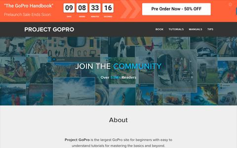 Screenshot of Home Page projectgo.pro - Project GoPro » Easy to Understand GoPro Tutorials - captured Nov. 8, 2018
