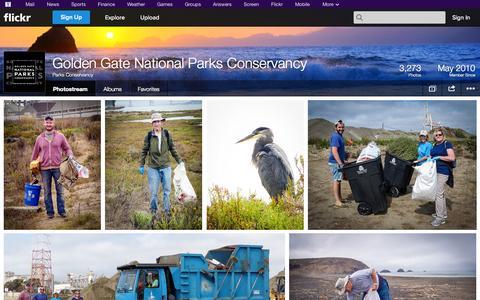 Screenshot of Flickr Page flickr.com - Flickr: Parks Conservancy's Photostream - captured Oct. 22, 2014