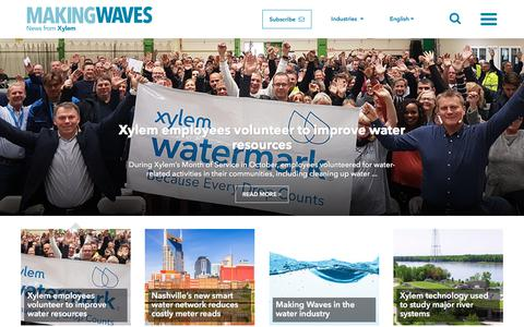 Screenshot of Signup Page xylem.com - Making Waves - Water news from Xylem - captured Dec. 1, 2017