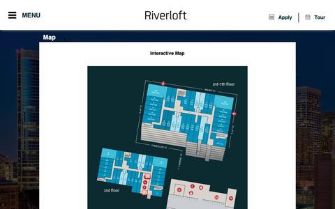 Screenshot of Maps & Directions Page riverloftapartments.com - The Riverloft Apartment Homes | Philadelphia, PA | Map - captured May 30, 2019