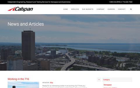 Screenshot of Blog calspan.com - Blog Archives - Calspan - captured Sept. 26, 2018