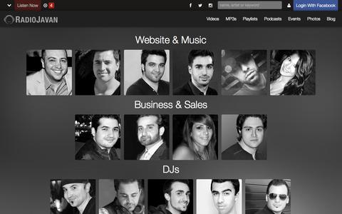Screenshot of Team Page radiojavan.com - RJ Team - RadioJavan - captured Oct. 27, 2014
