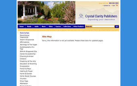 Screenshot of Site Map Page crystalclarity.com - Site Map - Crystal Clarity Publishers - Yogananda inspired Books and Music - captured Oct. 3, 2014