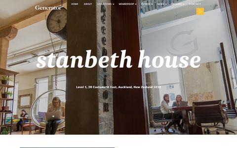 Screenshot of Locations Page generatornz.com - Stanbeth House – Generator - captured July 8, 2017
