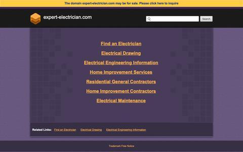 Screenshot of Home Page expert-electrician.com - Expert-electrician.com - captured March 22, 2019