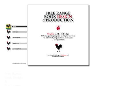 Screenshot of Home Page freerangeproduction.com - Welcome to Free Range - captured Oct. 6, 2014