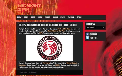 Screenshot of Press Page midnightspin.com - News | Midnight Spin - captured Oct. 27, 2014