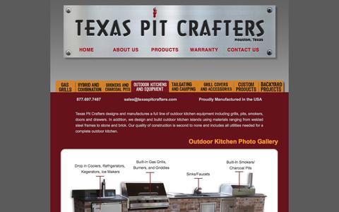 Screenshot of Products Page texaspitcrafters.com - Texas Pit Crafters Outdoor Kitchens and Equipment - captured April 10, 2017