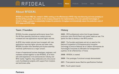 Screenshot of About Page Team Page rfideal.com - RFIDEAL Innovative RFID manufacturing platform for cost effectiveness - captured Oct. 9, 2014