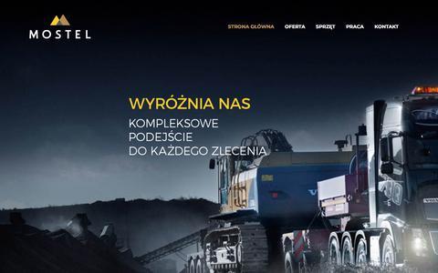 Screenshot of Home Page mostel.pl - Mostel – Kompleksowe podejście do każdego zlecenia - captured Jan. 11, 2018