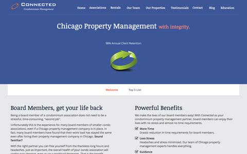 Screenshot of Home Page connectedmanagement.com - Property Management Chicago | Chicago Property Management - captured Oct. 2, 2014