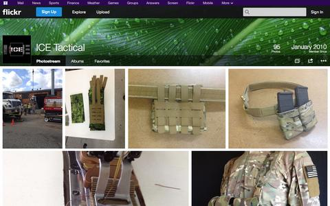 Screenshot of Flickr Page flickr.com - Flickr: ICE Tactical's Photostream - captured Oct. 23, 2014