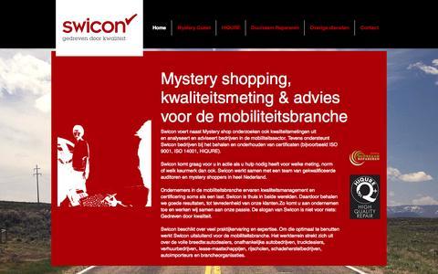 Screenshot of Home Page swicon.nl - Swicon Gedreven door kwaliteit! - captured Oct. 6, 2014