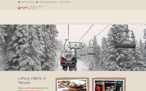 Screenshot of Home Page mountainspaces.com - Luxury Chalets Morzine - Mountain Spaces - captured June 13, 2017