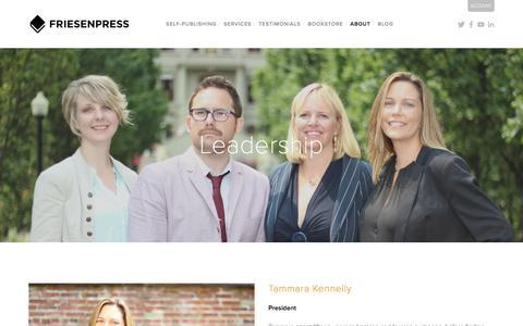 Screenshot of Team Page friesenpress.com - Leadership | FriesenPress - captured Jan. 17, 2016