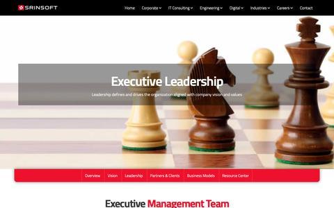 Screenshot of Team Page srinsofttech.com - Leadership – SrinSoft - captured Jan. 29, 2019