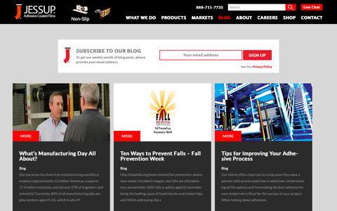 Screenshot of Blog jessupmfg.com - Jessup Manufacturing Blog - captured Oct. 4, 2018