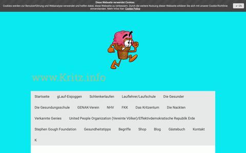 Screenshot of Site Map Page kritz.info - Sitemap - Denken 2.0 = denken in einer neuen Dimension - captured Oct. 18, 2018