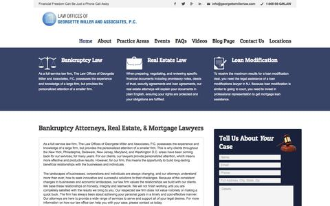 Screenshot of Home Page georgettemillerlaw.com - Georgette Miller Law | Bankruptcy Attorneys | Serving NYC, PA, NJ, MD, D.C. - captured Oct. 2, 2014