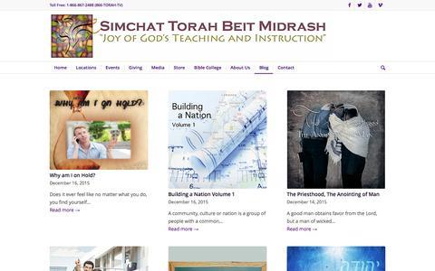 Screenshot of Blog stbm.org - Blog - Simchat Torah Beit Midrash - captured Dec. 19, 2015
