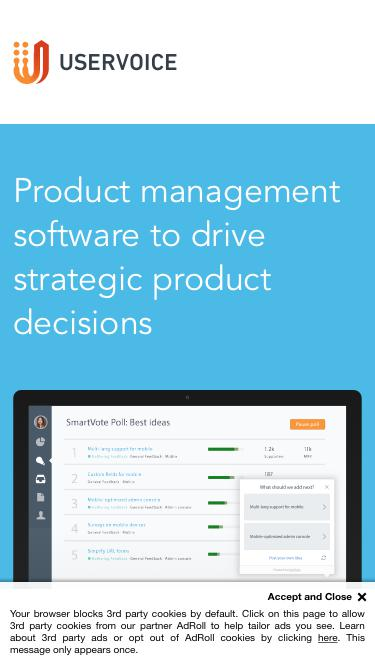 UserVoice Product Management | Request Demo