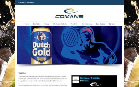Screenshot of Case Studies Page comans.ie - Comans Wholesale   –  Case Studies - captured Oct. 2, 2014
