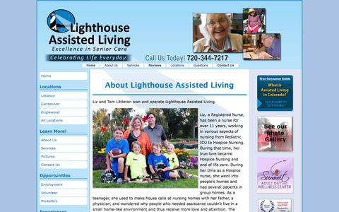 Screenshot of About Page lighthouseassistedliving.com - About Assisted Living Centennial Homes - captured Aug. 10, 2017