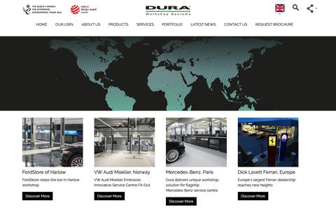 Screenshot of Case Studies Page dura.co.uk - Workshop Fit-Outs & Workshop Projects from Dura Limited - captured Oct. 9, 2018