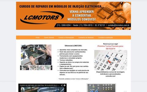 Screenshot of Home Page lcmotors.com.br - LCMOTORS TREINAMENTO E MANUTENÇÃO - LCMOTORS - captured Sept. 30, 2014