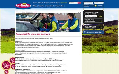 Screenshot of Services Page janlinders.nl - Services - Jan Linders - captured Sept. 30, 2014
