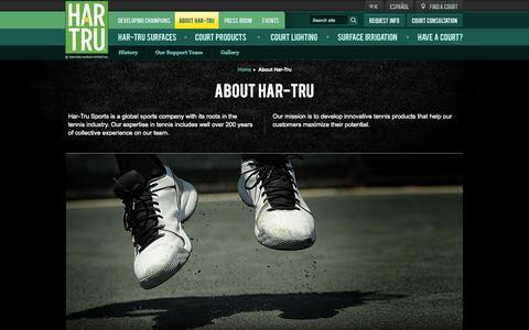 Screenshot of About Page hartru.com - About Har-Tru |Har-Tru - captured Oct. 2, 2014