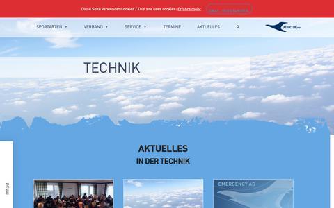 Screenshot of Login Page aeroclub-nrw.de - AEROCLUB | NRW - Technik - captured Oct. 30, 2018