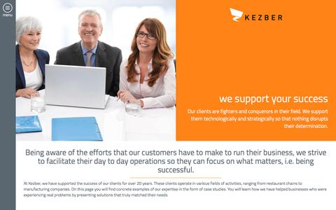 Screenshot of Case Studies Page kezber.com - Discover our analyses and the Kezber expertise      |  Kezber - captured Jan. 16, 2018