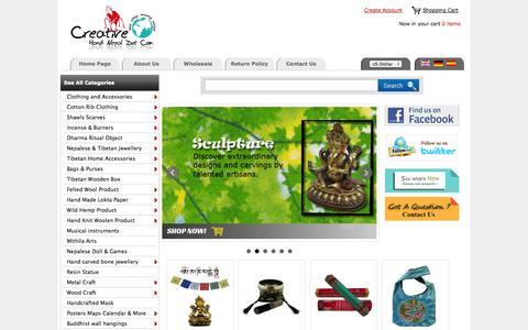 Screenshot of Home Page creativehandnepal.com - Creative Hand Nepal:: Nepal Trade Fair  an Online Wholesale Handicraft Marketplace ! - captured Sept. 19, 2014