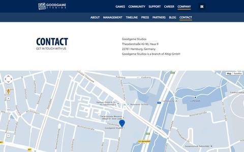 Screenshot of Contact Page goodgamestudios.com - Contact | Goodgame Studios - captured Oct. 28, 2014