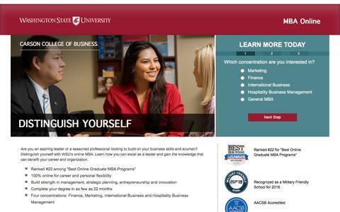 Screenshot of Landing Page wsu.edu - responsive lp template | Washington State University - captured Nov. 10, 2016