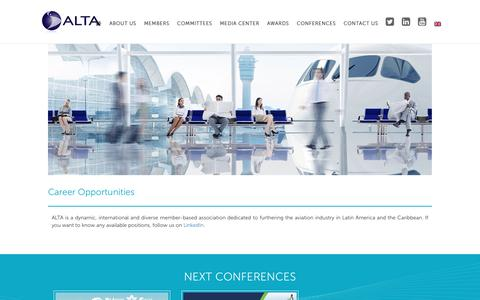 Screenshot of Jobs Page alta.aero - Careers | ALTA - captured Sept. 24, 2018