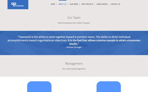 Screenshot of Team Page crosspower.org.nz - Our Team - captured Oct. 3, 2014