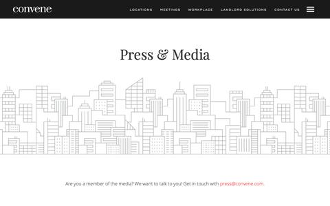 Screenshot of Press Page convene.com - (2) New Messages! - captured Sept. 26, 2018