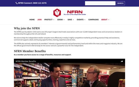 Screenshot of Signup Page nfrnonline.com - NFRN Member Benefits - captured Dec. 3, 2016