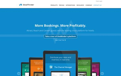 Screenshot of Home Page siteminder.com - SiteMinder: Hotel Booking and Distribution Technology for Maximum Profitability | SiteMinder - captured Feb. 10, 2017