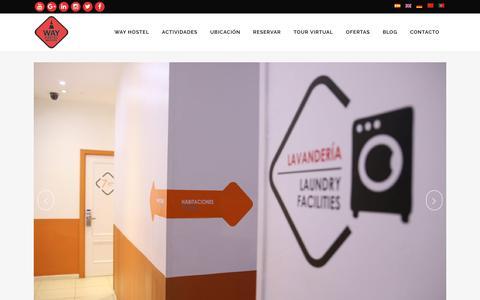 Screenshot of Home Page wayhostel.com - Hostel Barato en el centro de Madrid | WayHostel - captured Oct. 27, 2017