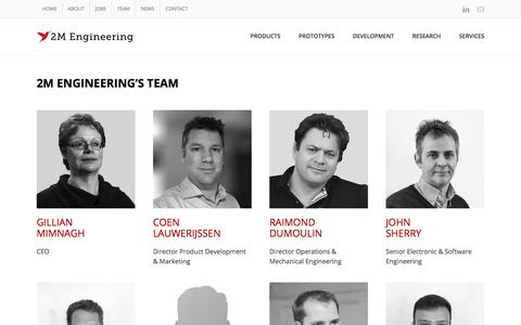 Screenshot of Team Page 2mel.nl - 2M Engineering - Experienced Multidisciplinary Team - captured Oct. 19, 2017