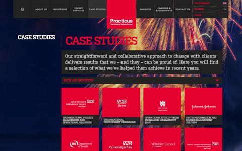 Screenshot of Case Studies Page practicus.com - Case Studies   Practicus - captured Sept. 30, 2014