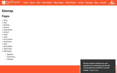 Screenshot of Site Map Page firstfound.co.uk - Website Sitemap - FirstFound, Manchester, UK - captured Sept. 24, 2018