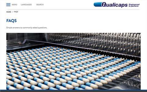 Screenshot of FAQ Page qualicaps.com - Qualicaps - captured July 19, 2018