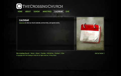 Screenshot of Contact Page thecrossingchurch.tv - The Crossing of Little Elm Church | CALENDAR - captured Oct. 7, 2014