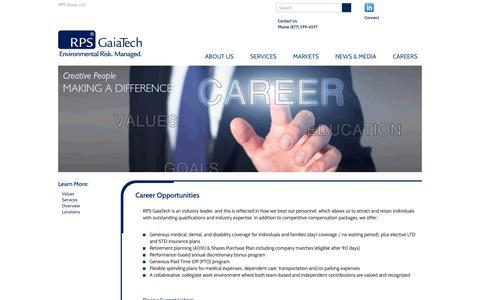 Screenshot of Jobs Page rpsgaiatech.com - RPS   GaiaTech - captured Feb. 21, 2016