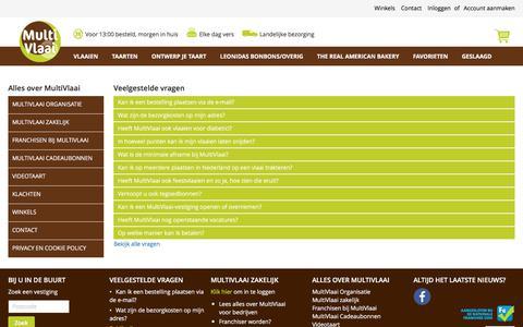 Screenshot of FAQ Page multivlaai.nl - FAQ - captured June 14, 2017