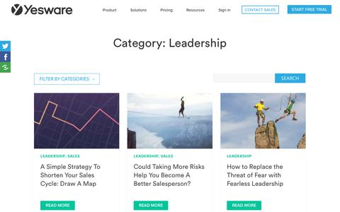 Screenshot of Team Page yesware.com - Leadership Archives | Page 3 of 4 | Yesware - captured July 12, 2019